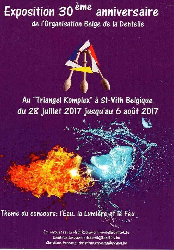 Exposition 30ème anniversaire de l'organisation belge de la dentelle